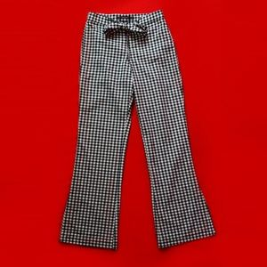 Zara Checked Gingham Flare Trousers XS